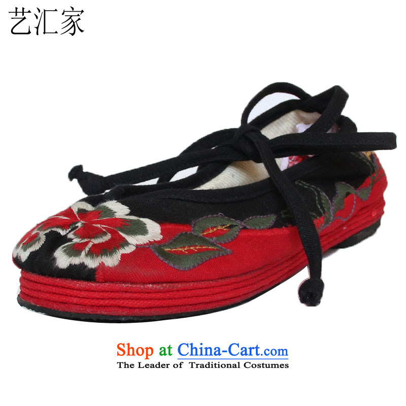 Performing Arts stylish embroidered shoes of Old Beijing single shoe thousands of mesh upper floor women shoes M-0 13 36