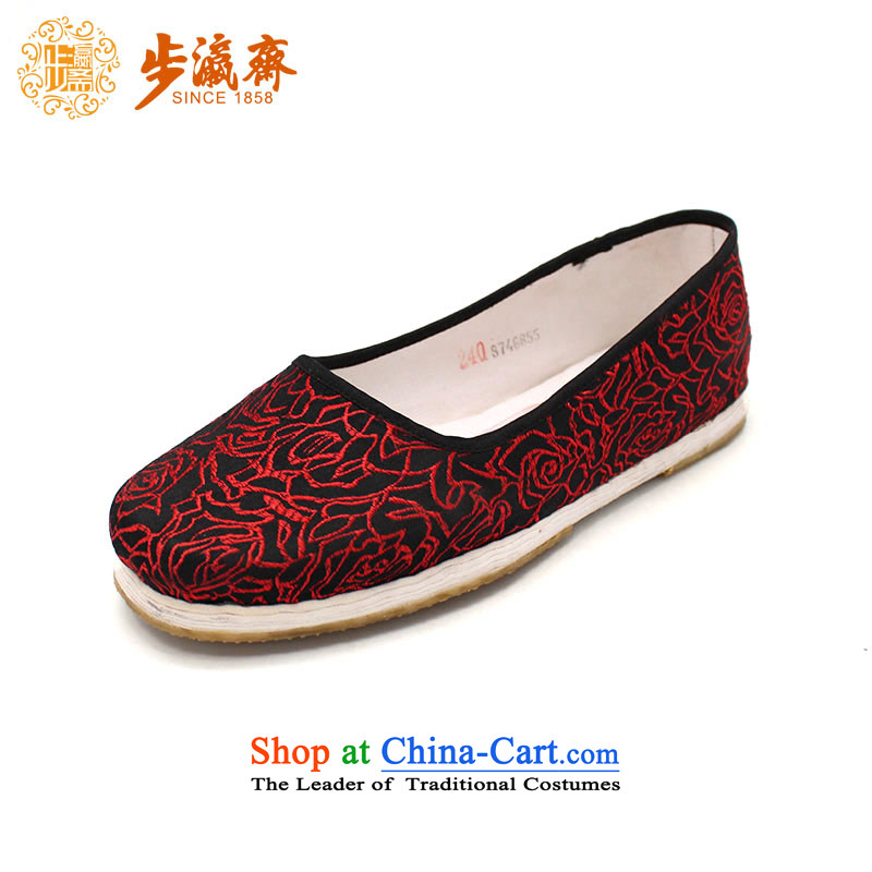The Chinese old step-young of Ramadan Old Beijing mesh upper hand embroidered ground sent thousands of Mom Gifts home women shoes black 37