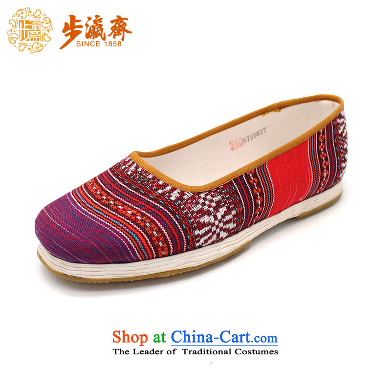 Genuine old step-young of Ramadan Old Beijing mesh upper hand bottom thousands of Mother Nature streaks lady's shoe suit 35