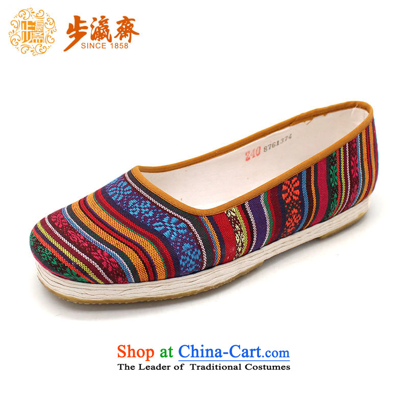The Chinese old step-young of Ramadan Old Beijing mesh upper floor of thousands of manual grain of mother nature abounds women shoes A-13 woman shoes abounds film 37