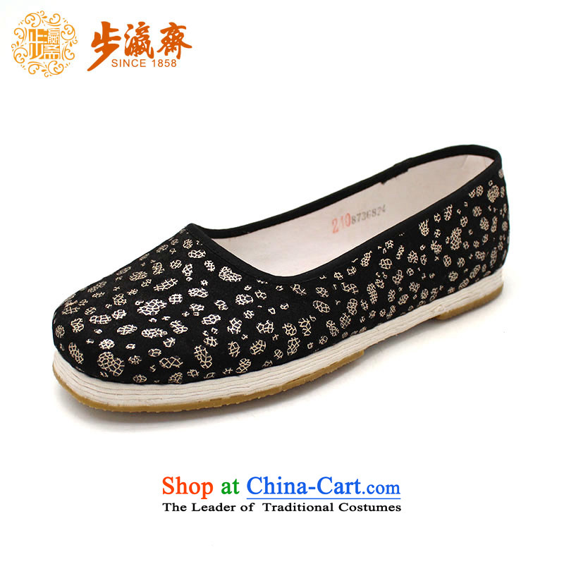 The Chinese old step-young of Ramadan Old Beijing mesh upper hand bottom thousands of Mother Nature streaks lady's shoe film A-15 woman shoes black 34