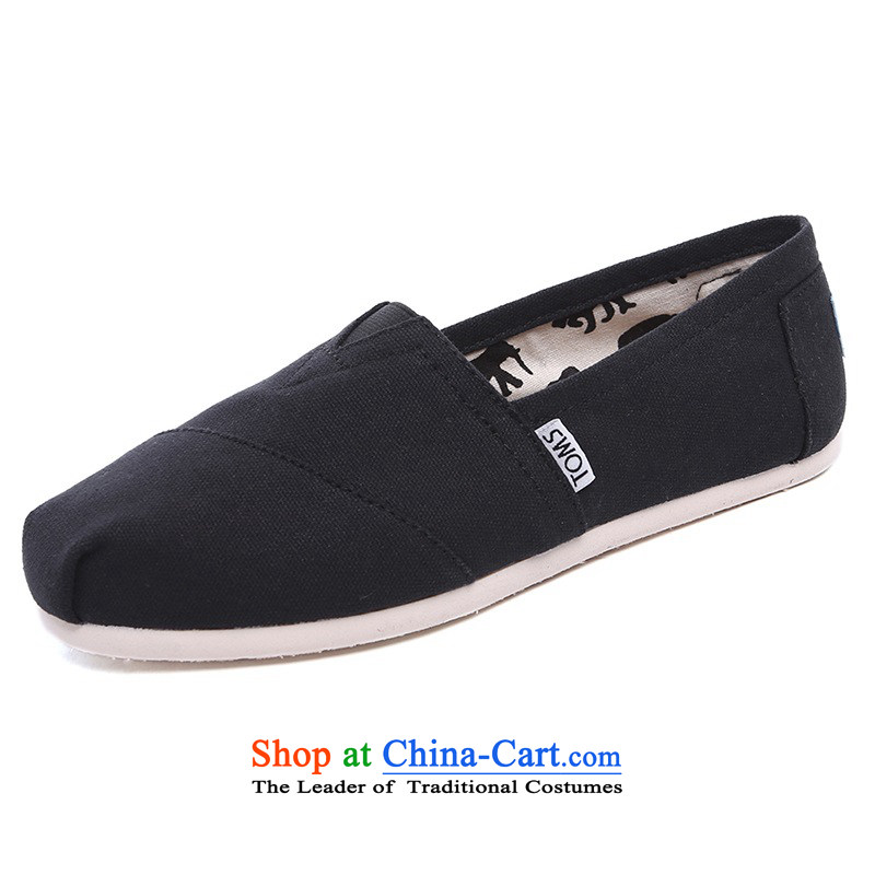Mesh upper with TOM TOMS genuine United States President comfortable black flat bottom canvas shoes 001001B07-BLK 10/42