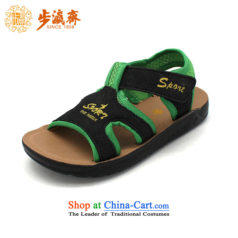 The Chinese old step-young of Ramadan Old Beijing Summer Children shoes, mesh upper with anti-slip soft bottoms baby children wear sandalsT1405 Children shoes black29 /19.5cm code