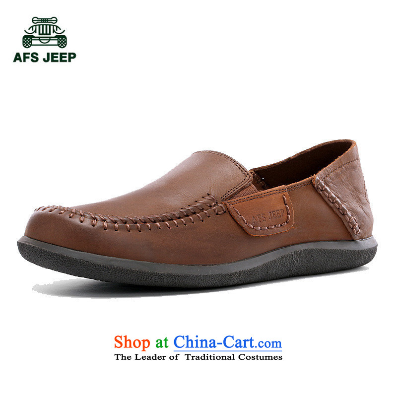 Field 4 Jeep Spring New Daily leisure leather hip trendy fashion shoes 2,556 Red Brown 39
