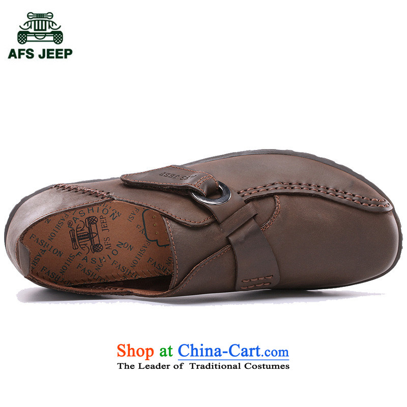 The field to the Roma men round head in a stylish men's shoes 2015 new leisure low shoes Velcro 6,087 43 field jeep (brown AFS JEEP) , , , shopping on the Internet