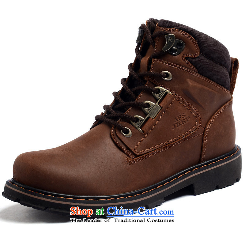 The field to the Roma-shoes men first layer is really the lint-free shoes 1A1180 psoriasis red brown聽41