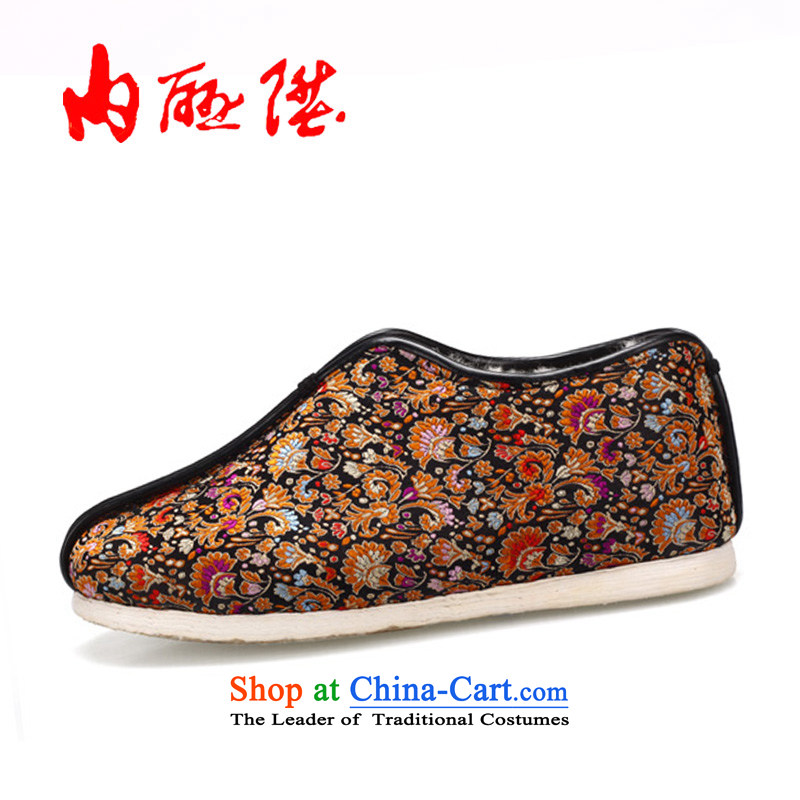 Inline l old Beijing mesh upper female manually cross the bottom layer of thousands of process cotton shoes, tapestries wool as well as ideal gifts 8417A black35