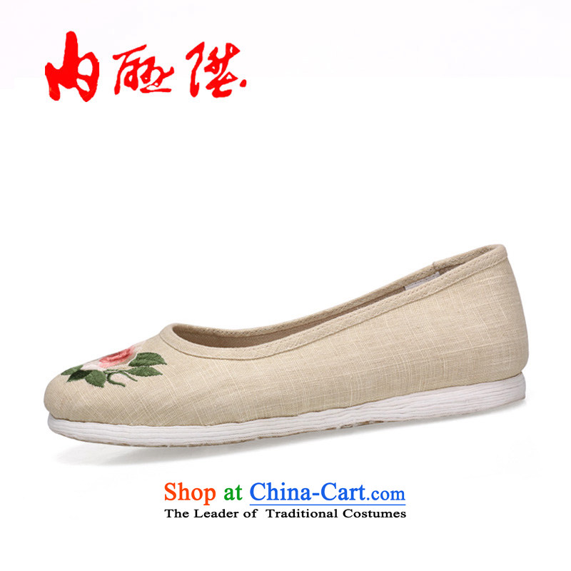 Inline l old Beijing mesh upper hand-gon thousands of female backplane encryption linen sea RMB Female聽8726A聽mixed spend聽35 mesh upper