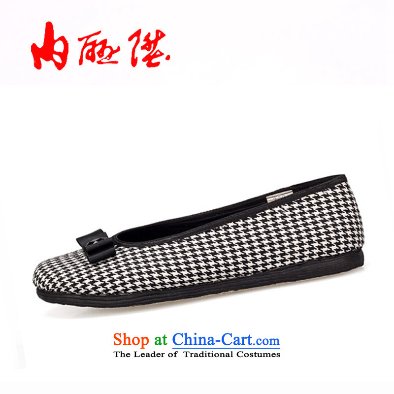 Inline l mesh upper female tangyan old Beijing mesh upper hand thousands of the sea in this new year gift black38 8706A
