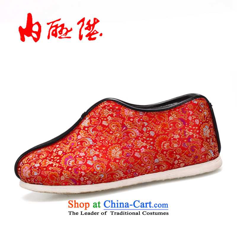 Inline l cotton shoes female tangyan old Beijing mesh upper hand bottom thousands of warm tapestry of cotton flowers 37/23.5CM 8235A black