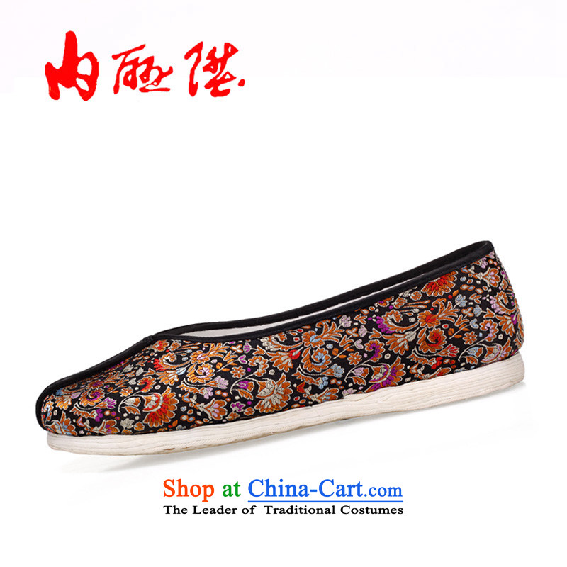 Inline l mesh upper female embroidered shoes of Old Beijing mesh upper hand-gon thousands ground spring and summer Mrs tapestries encryption Click 8261A shoes, red and green37