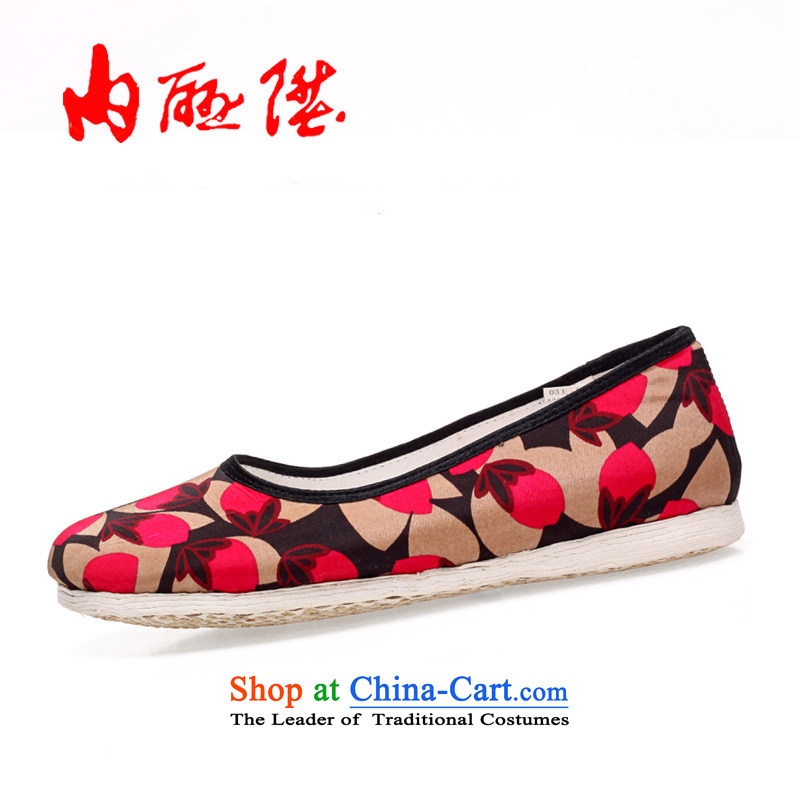 The rise of Old Beijing mesh upper with thousands of women shoes bottom encryption Magnolia sea smart casual shoes for New Year gift to manually 8266A orchid39