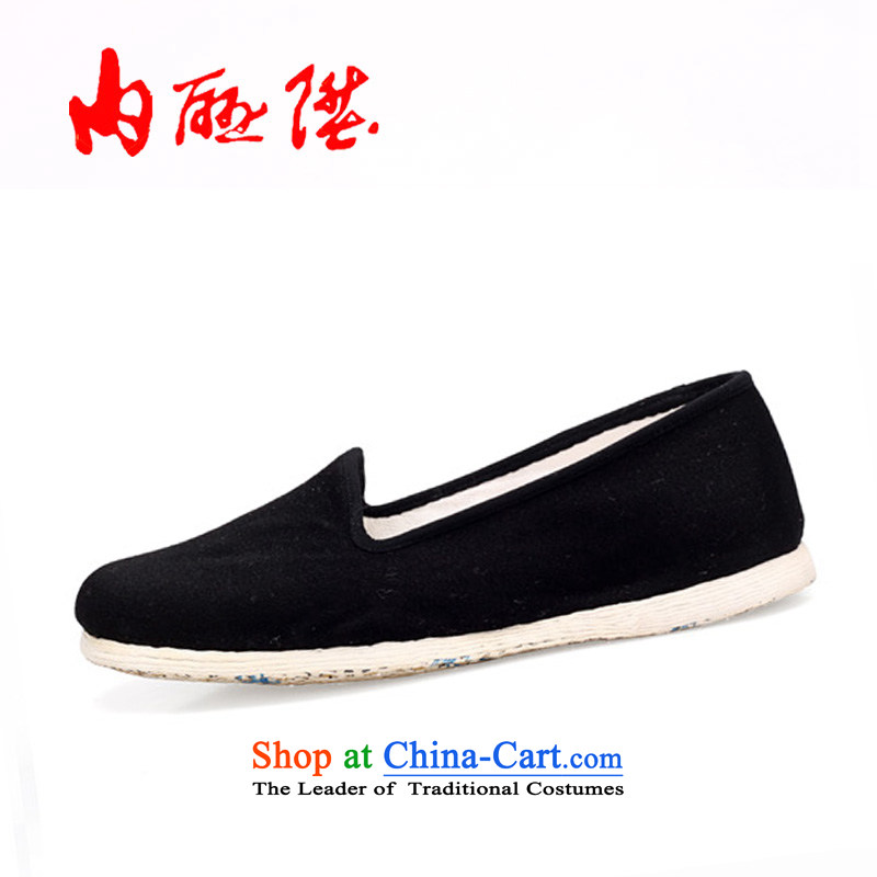 Inline l mesh upper women shoes of Old Beijing mesh upper hand-thousand-layer on the tabs on the bottom of dress is a traditional single shoe 8211 Black 42 XL
