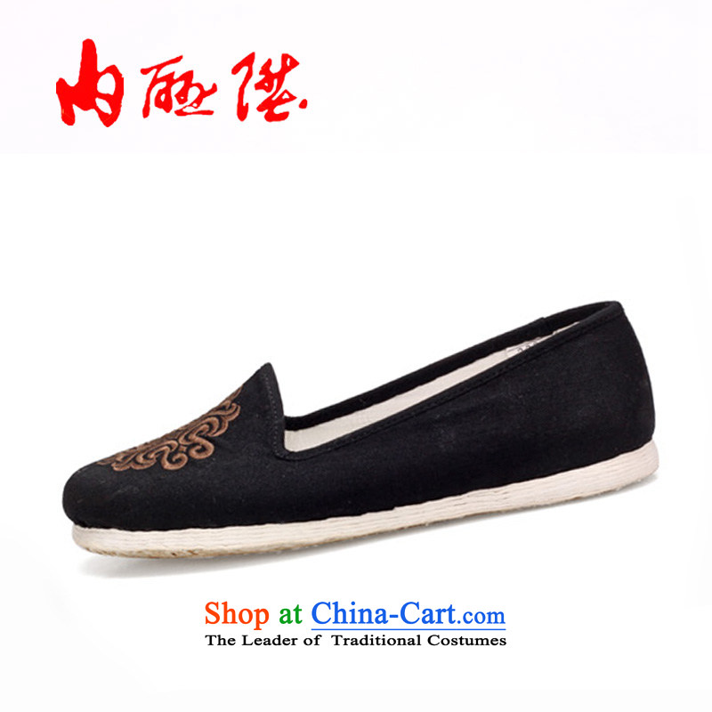 Inline l mesh upper women shoes of Old Beijing mesh upper hand-gon thousands of bottom tabs on the wool embroidery on encryption mesh upper 8267A SAFFLOWER38