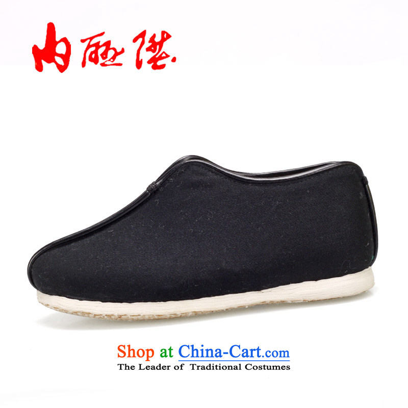 Inline l cotton shoes women shoes camel, cotton shoes of Old Beijing mesh upper layer thousands ground craft wool on cotton 8415A black37