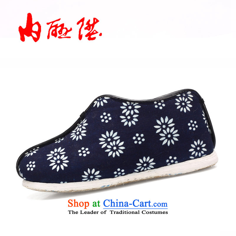 Inline l cotton shoes women shoes of Old Beijing mesh upper warm winter-gon 8255A batik, thousands of encryption bottom聽37