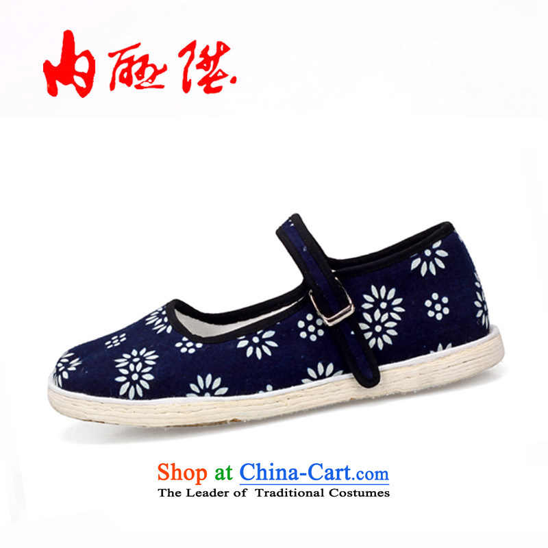 The rise of Old Beijing mesh upper women shoes canvas shoes leisure shoes bottom thousands of batik generation 8619A edge New Year gift, Bottom 8619A 37
