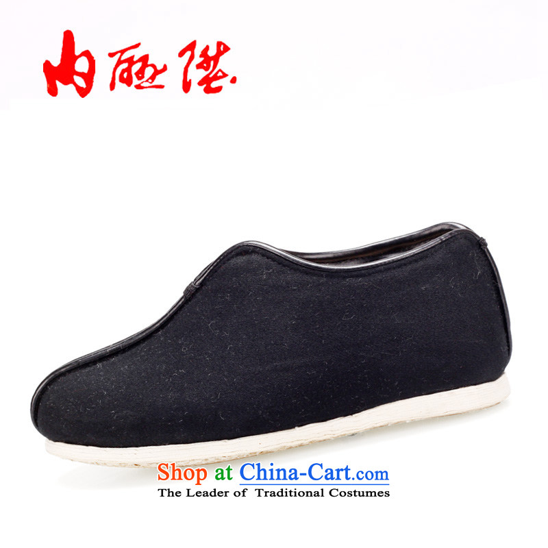 Inline l old Beijing mesh upper hand-gon thousands of female bottom warm encryption Lytle Cotton Women's cotton shoes 8239A 8239A black 38