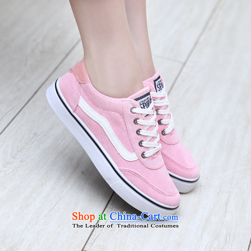 【 C.O.D.- 2014 New Ladies casual shoes wild thick cake canvas shoes leisure shoes black 36