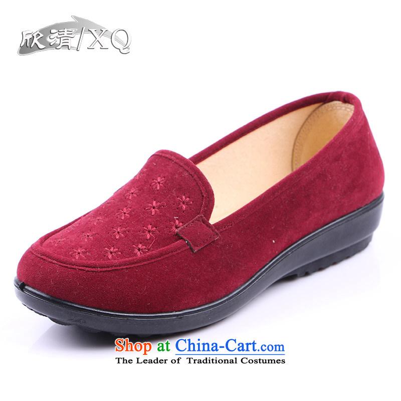 Yan Ching fall new old Beijing mesh upper women shoes filial mother footwear in the older single shoe 292 elderly shoesmauve40