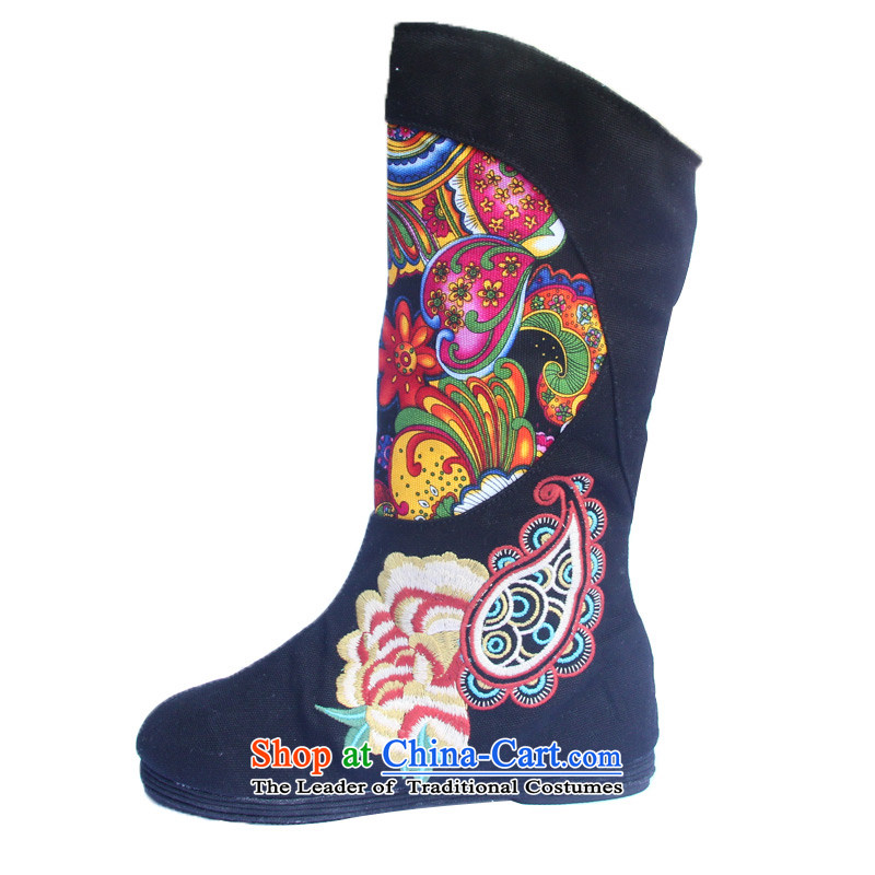 The fall of the performing arts in the new embroidered shoes bottom thousands of Burkina boots ethnic woman shoes, then boots 'S L-11 Black 37, performing arts companies , , , shopping on the Internet