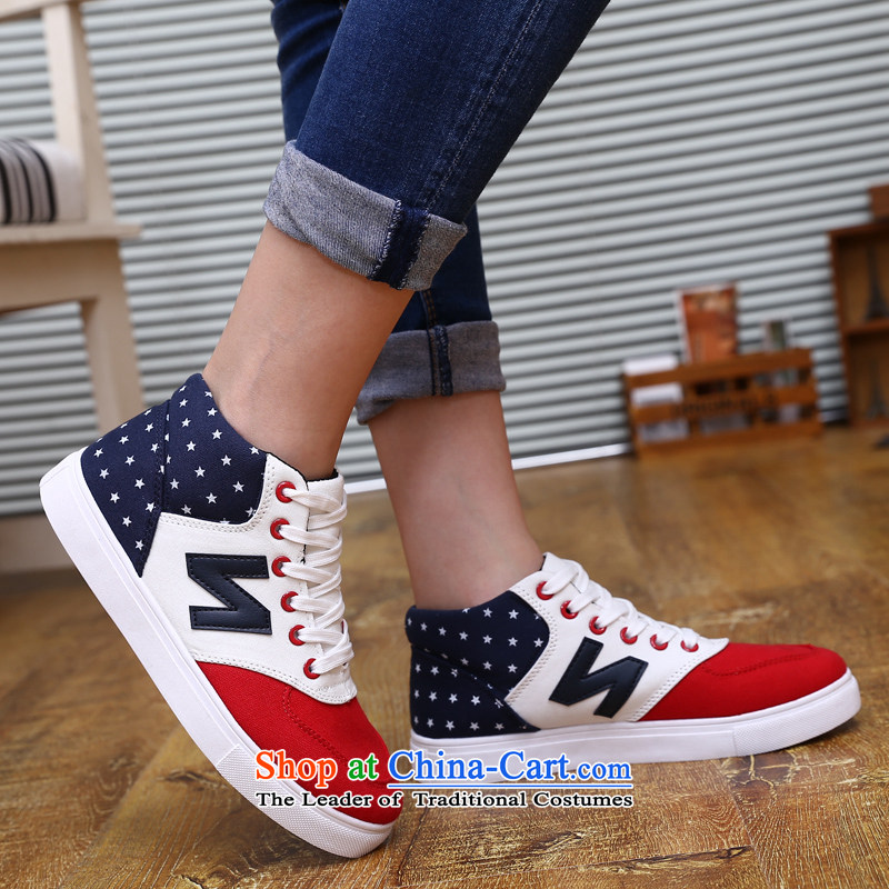 【 C.O.D.- 2014 New Ladies casual shoes wild thick cake canvas shoes leisure shoes Red 36