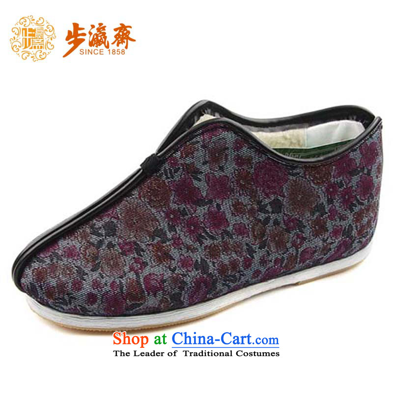 The Chinese old step-young of Ramadan Old Beijing mesh upper hand-thousand-layer apply glue to the bottom with non-slip gift for the elderly is too small for female A83 bottom thousands of cotton black 37 this shoe is too small a concept of a large number
