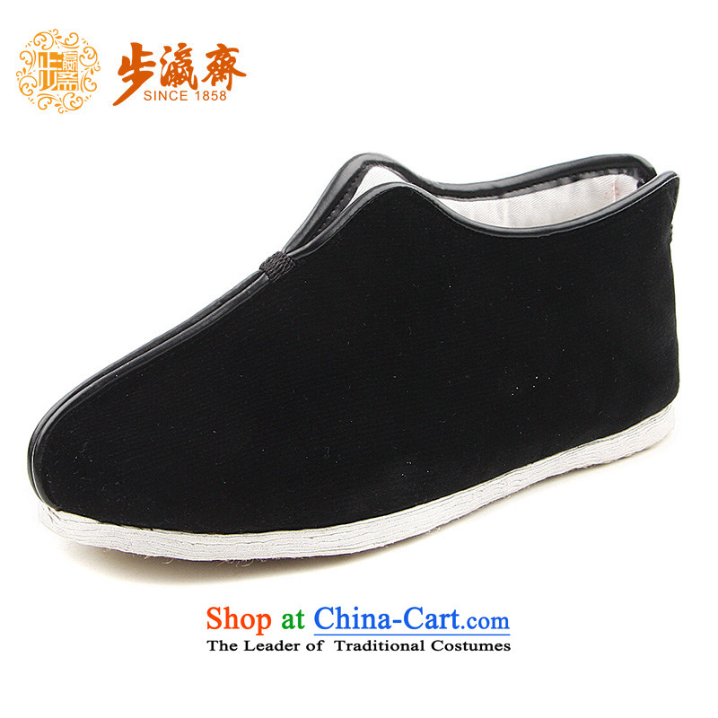The Chinese old step-young of Ramadan Old Beijing mesh upper hand bottom of thousands of anti-skid apply glue flocking gift elderly small thousands ground flocking of cotton black 35 this shoe is too small a concept of a large number