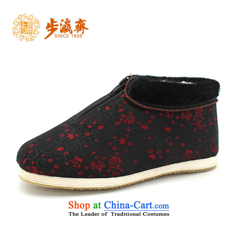 The Chinese old step-young of Old Beijing mesh upper for Ramadan, thousands of bottom apply glue to non-slip with flower gift elderly small-glue straight lock cotton red 39 this shoe is too small a concept of a large number