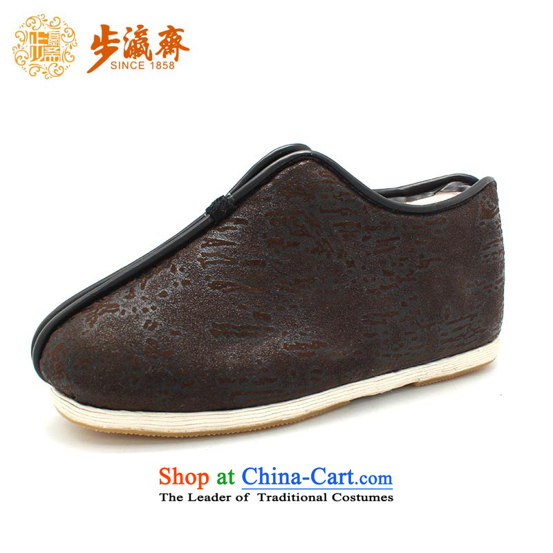 The Chinese old step-young of Ramadan Old Beijing mesh upper hand bottom of thousands of anti-skid apply glue to gift driving elderly women small thousands of women 1108 Cotton Brown 34 this shoe is too small a concept of a large number
