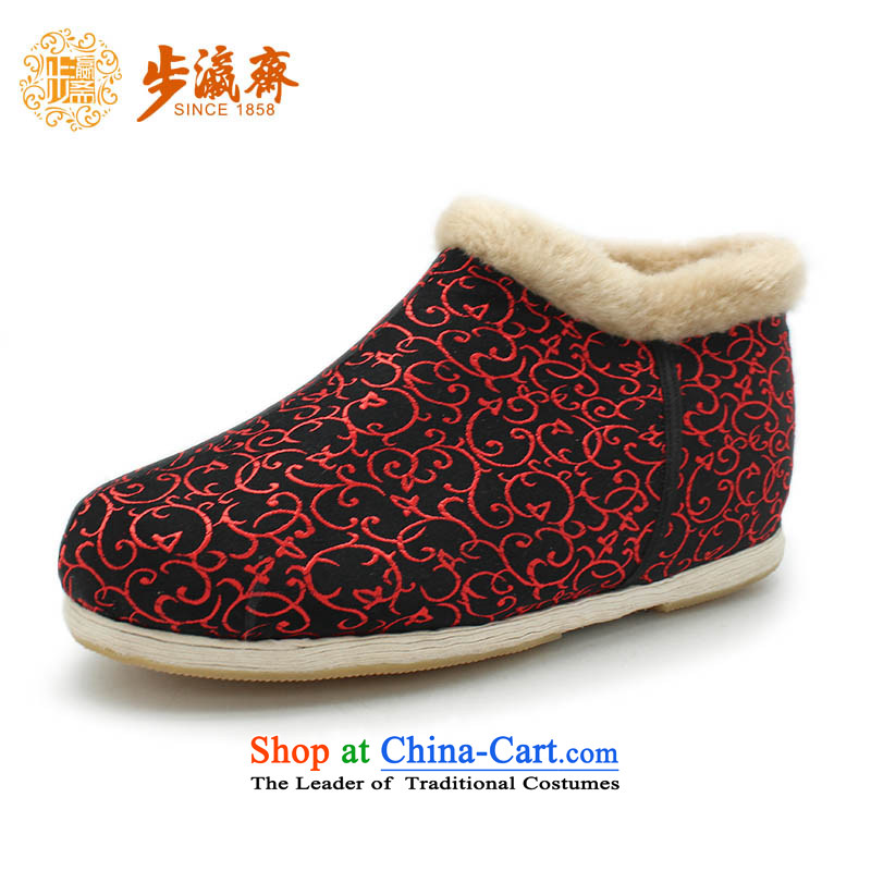 The Chinese old step-young of Ramadan Old Beijing mesh upper hand bottom of thousands of anti-skid apply glue to mother Lady female cotton shoes small plastic thousands of 86 pull locking cotton color 38 this shoe is too small a concept of a large number