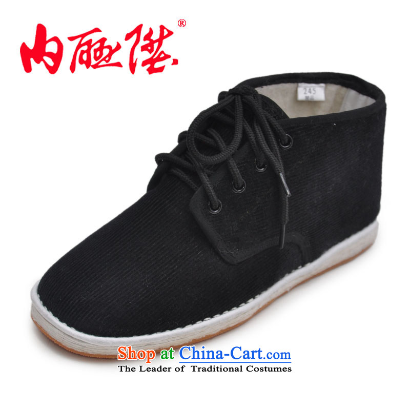 Inline l female cotton shoes mesh upper for autumn and winter cotton shoes bottom layer 4 Gigabit manually eye corduroy female cotton shoes is smart casual shoes8641A 8641G old Beijing Film Plus39