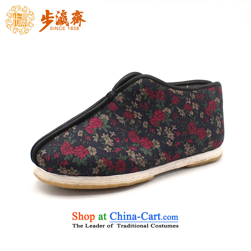 The Chinese old step-young of Ramadan Old Beijing mesh upper hand-thousand-layer apply glue to the bottom with non-slip gift for the elderly is too small for female flowers anti-slip cowboy cotton 36 this shoe is too small a concept of a large number
