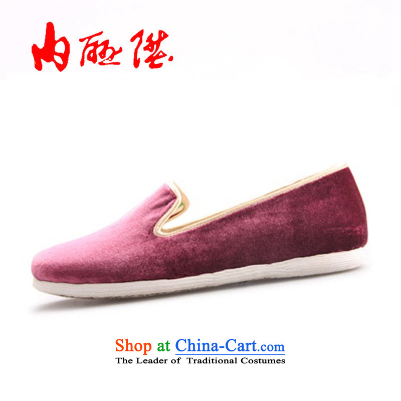 The rise of Old Beijing mesh upper women shoes bottom thousands-gon manually the nightmare of the queen of the spring and summer single shoe 8287A purple 35
