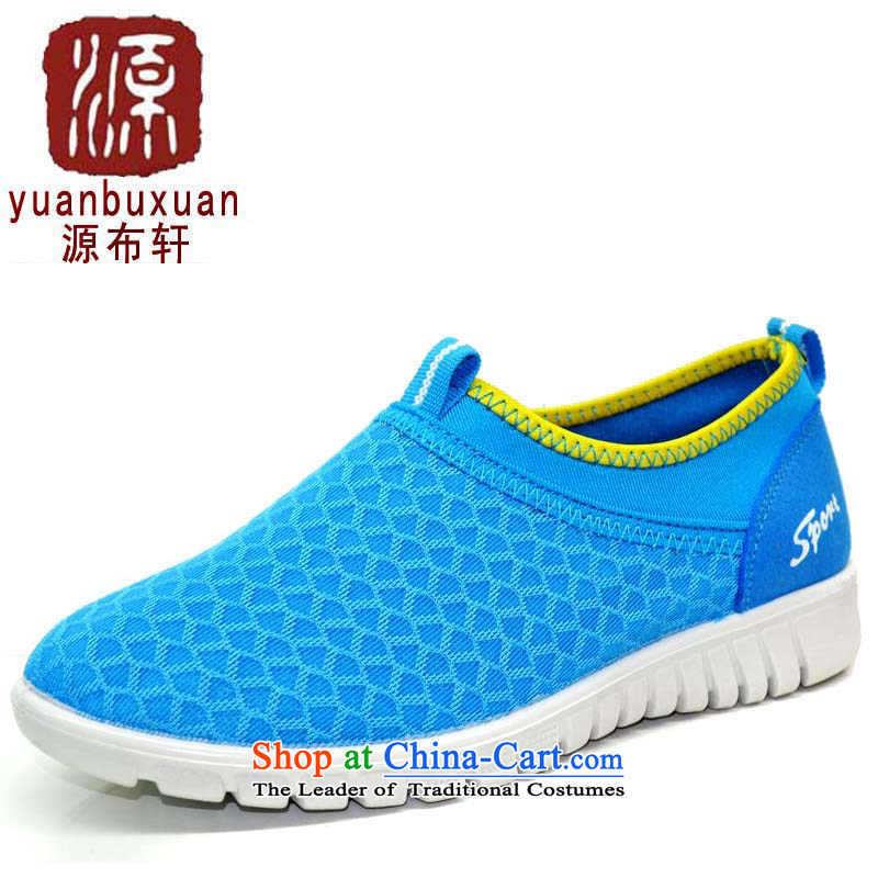 Women shoes 2015 Summer new web shoes breathable mesh upper with minimalist old Beijing kit in the number of older light pin mother shoe-to-day comfort women single shoe 808 Blue 808 36