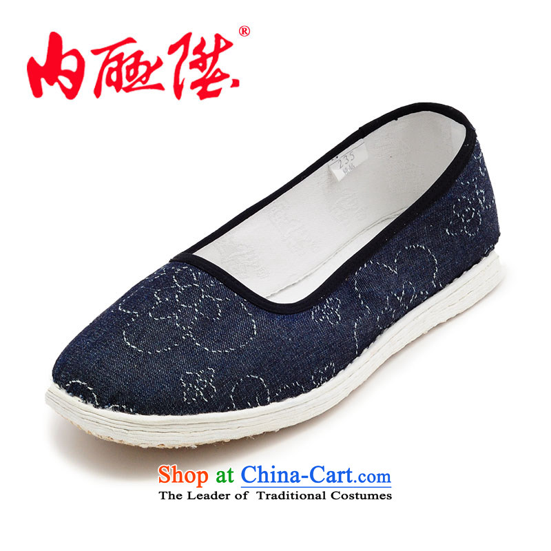 Inline l women shoes mesh upper hand bottom thousands of encryption cowboy sneakers party women shoes is smart casual shoes聽8625A old Beijing聽New orchid cowboy聽36