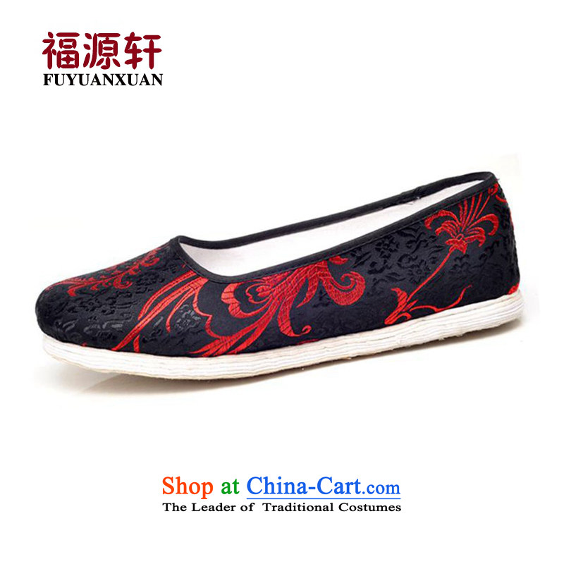 Fuyuan Xuan Old Beijing thousands of ethnic embroidery girls mesh upper single shoe spring and fall very casual flat bottom mother port red phoenix39 (for 3 day shipping)