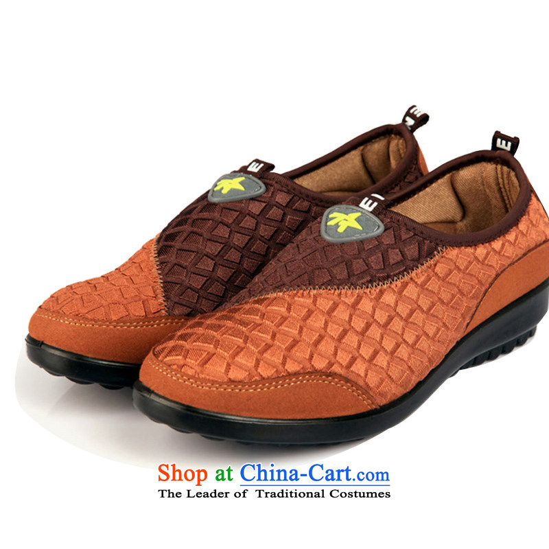 Maple Ping during the spring and autumn of Old Beijing in the number of older women shoes mesh upper with a flat bottom breathable leisure shoes womens single moms and color FL14215 36