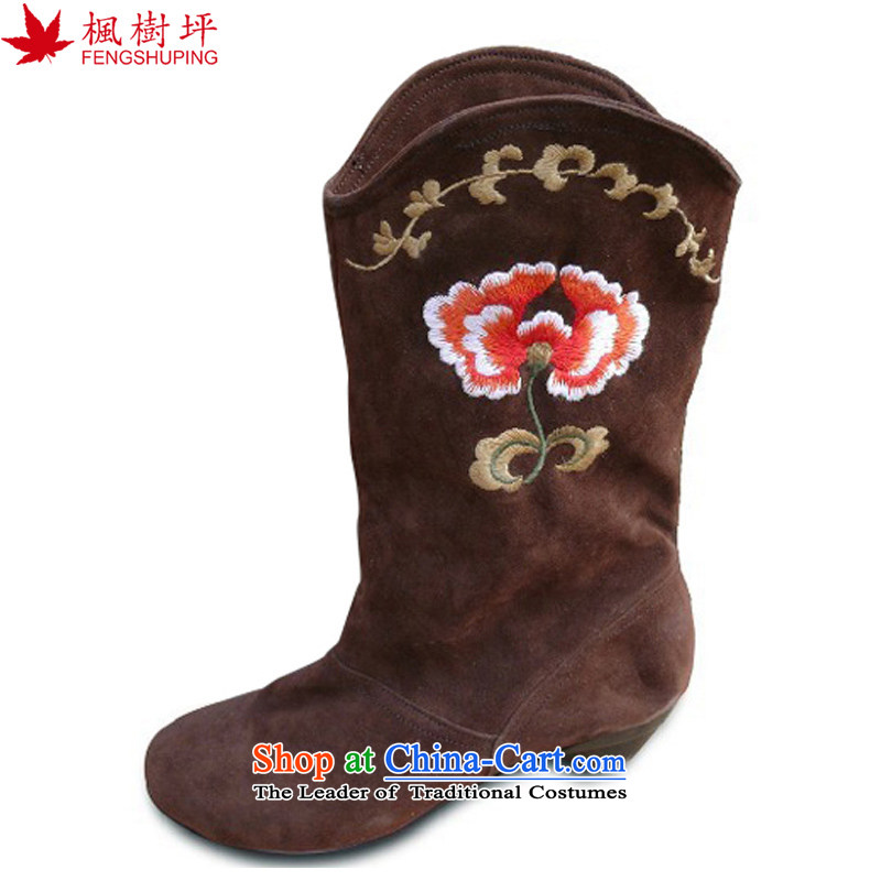 Maple-pyeong of Old Beijing women shoes embroidered shoes with ethnic leisure shoes during the spring and autumn colors A810 lady 35
