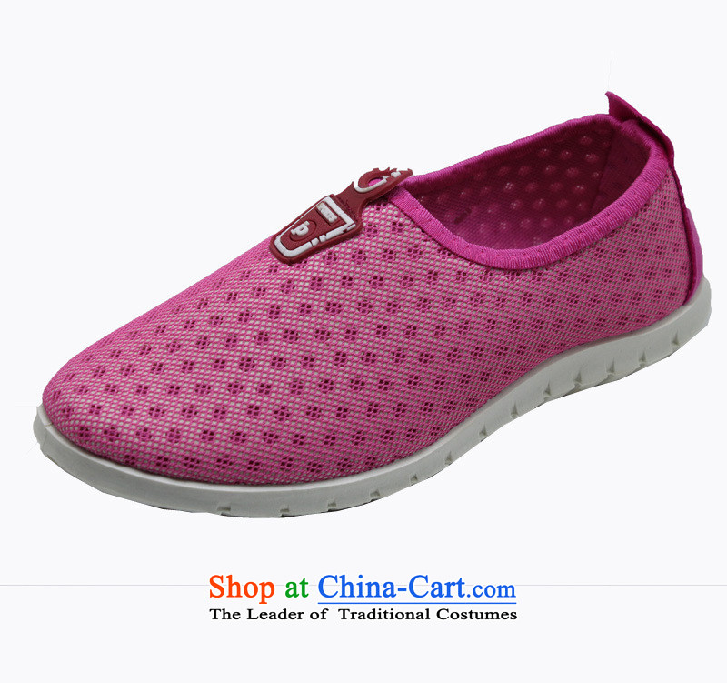 2015 Spring New Web shoes of Old Beijing smart casual shoes women shoes sports shoes, comfortable and stylish breathable mesh upper B049YZ pink 38