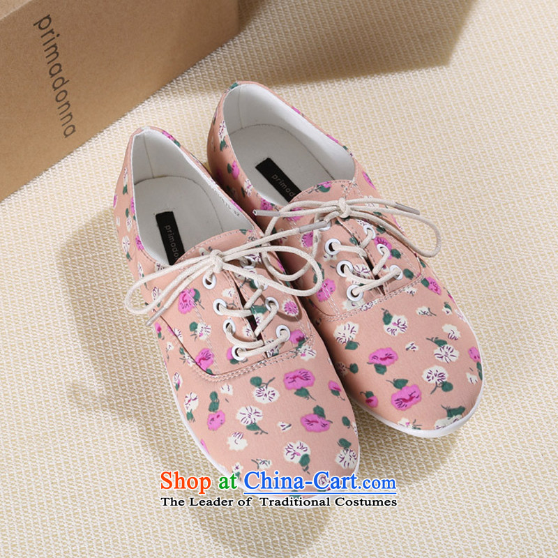 2015 new canvas shoes women shoes idyllic women shoes comfortable lounge with a small stylish Shoe Fresh B035YZ pink 37