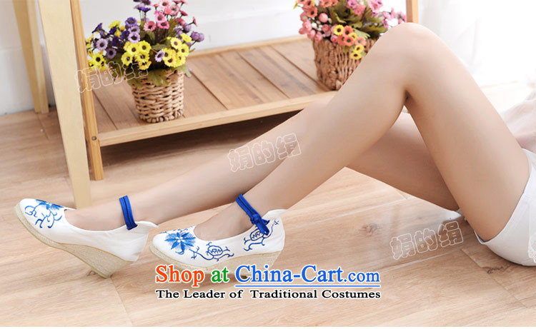 The silk autumn old Beijing mesh upper ethnic embroidered shoes antique porcelain slope with the high-heel shoes light shoe single port 577 white 38 pictures, prices, brand platters! The elections are supplied in the national character of distribution, so action, buy now enjoy more preferential! As soon as possible.