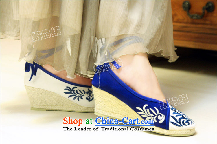 The silk fall of Old Beijing National wind the the high-heel shoes slope with the embroidered shoes porcelain straps mesh upper leisure shoes 301-6 white 37 pictures, prices, brand platters! The elections are supplied in the national character of distribution, so action, buy now enjoy more preferential! As soon as possible.
