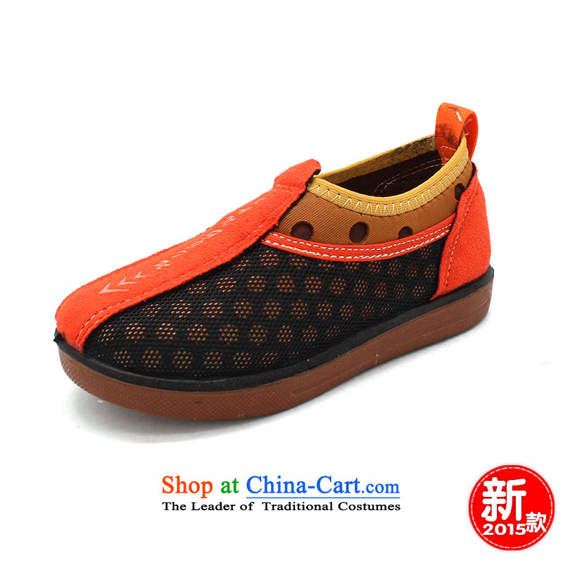 The old-established step-young of Ramadan Old Beijing Summer mesh upper new girls sandals anti-slip wear fashionable BABY CHILDREN SHOESB49-A390 child is orange18 yards /14cm