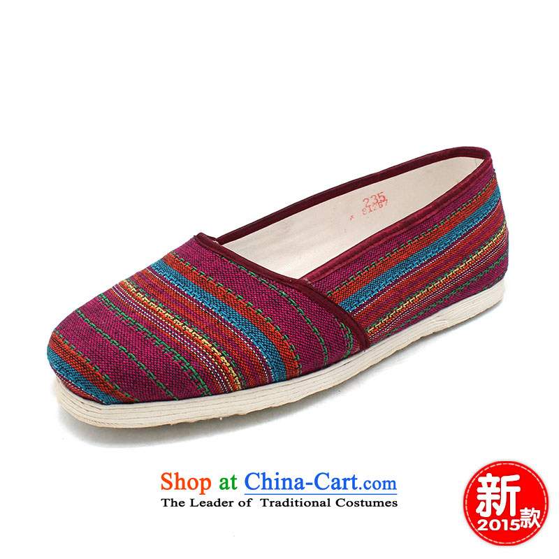The Chinese old step-young of Ramadan Old Beijing mesh upper floor of thousands of manual grain of mother nature abounds women shoes bottom second connector red Chin Ma suit37