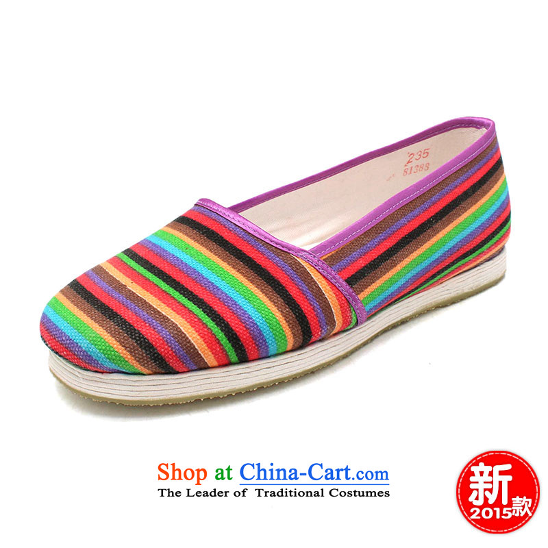 The Chinese old step-young of Ramadan Old Beijing mesh upper floor of thousands of manual grain of mother nature abounds female single-glue second fitting shoes color bar women shoes suit34