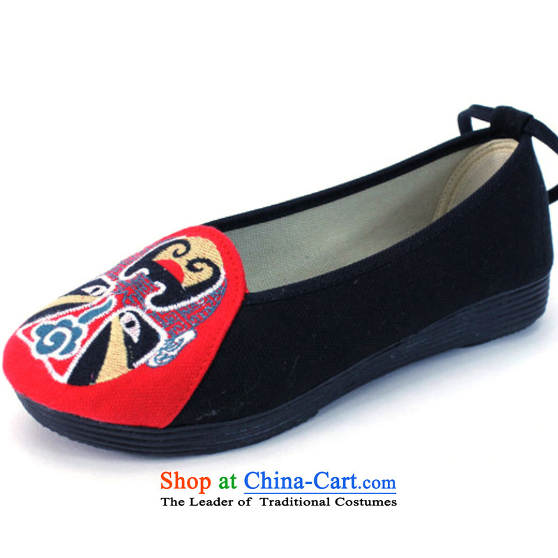 The spring and summer of ethnic women shoes single shoe-masks the quintessence of Old Beijing mesh upper retro embroidered shoes A5001 A5001 female Red 36