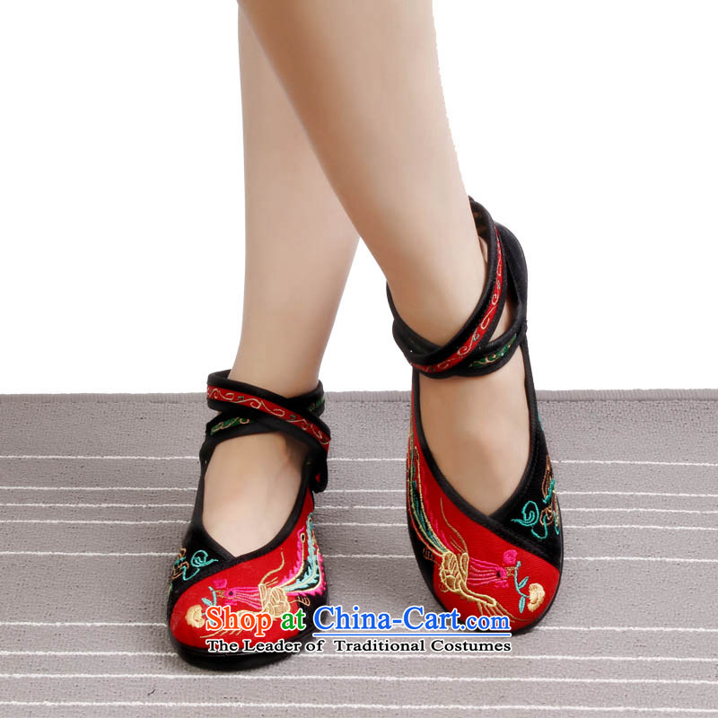 2015 New Brilliant sweet girl shoe old Beijing mesh upper retro embroidered shoes with soft, then Shoes Plaza 8520-38 8520-38 Dance Shoe red 35, Yong-sung Hennessy Road , , , shopping on the Internet