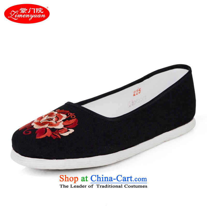 The first door of Old Beijing mesh upper end of thousands of women shoes manually mesh upper middle-aged women mother shoe light port of ethnic shoes embroidered shoes, women's shoes bottom black 39