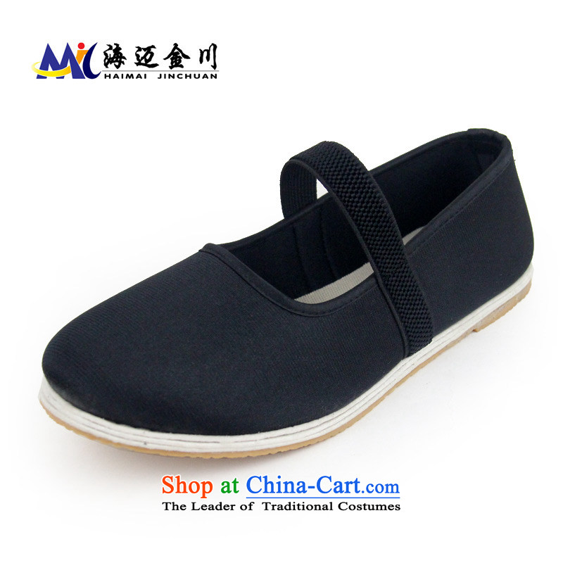 The Mai Jinchuan Old Beijing mesh upper spring cloth shoes bottom thousands of non-slip surface film flat shoe Ms. spring and autumn in spring and autumn mesh upper with elastic band of older square Dance Shoe 090 thousand women shoes bottom level 37